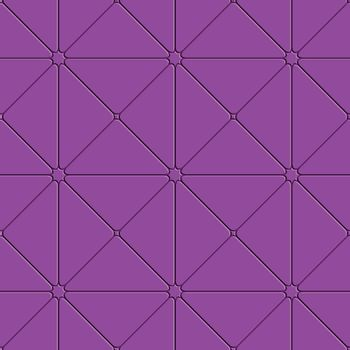 Purple triangular tile ornament