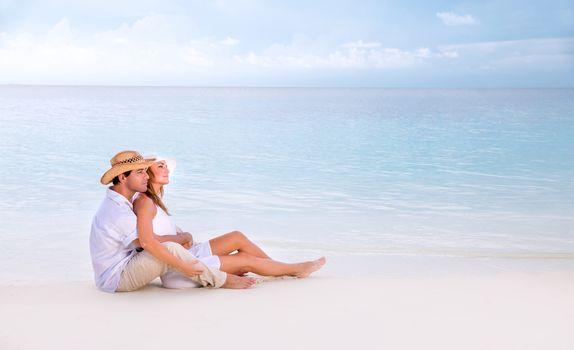 Romantic date on the beach