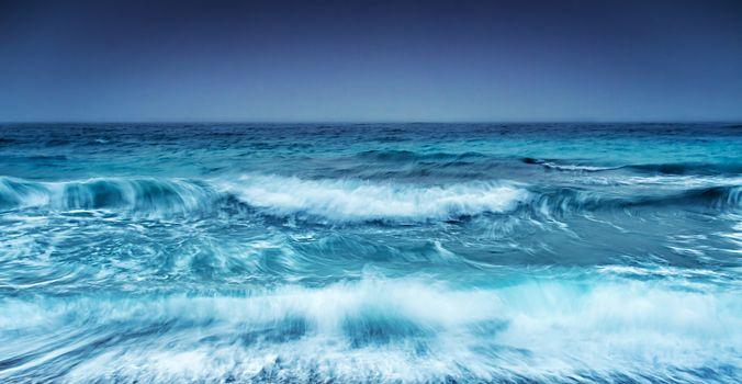 Dramatic stormy seascape