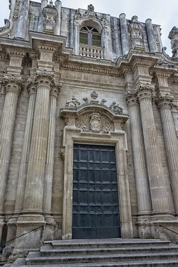 Church of St. Teresa in Lecce in the old town of Lecce in the southern Italy (17th century)