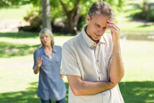 Couple facing with relationship difficulties