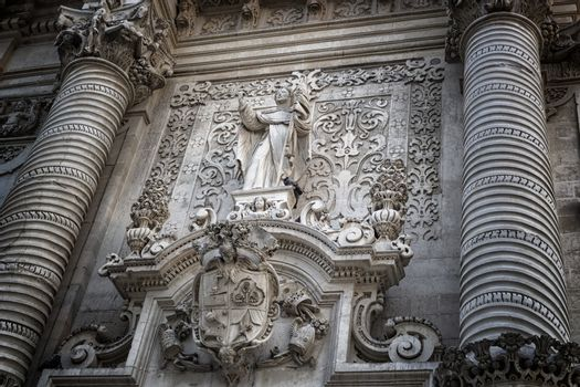 Church of St. John The Baptist in Lecce in the old town of Lecce in the southern Italy (17th century)