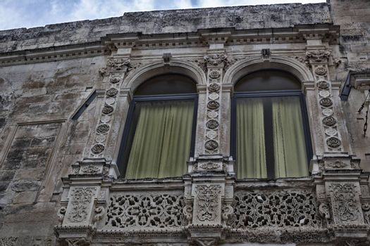 Baroque details  in the old town of Lecce in the southern Italy
