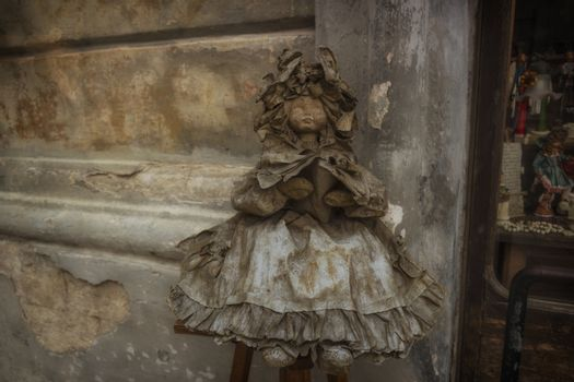 This Papier-mache doll is a typical sample of the artisan tradition in Lecce