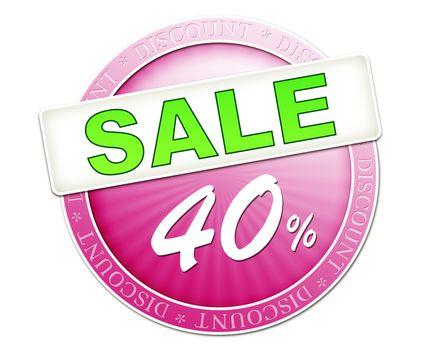 sale button 40%