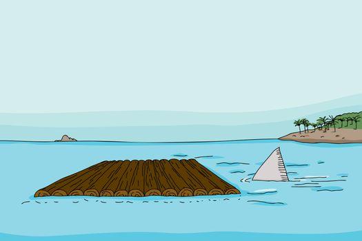 Shark Fin and Raft