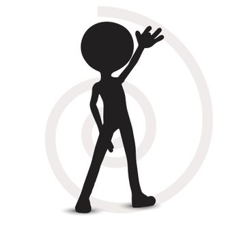 EPS Vector 10 - 3d man with one hand raised