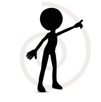 3d man in pointing pose