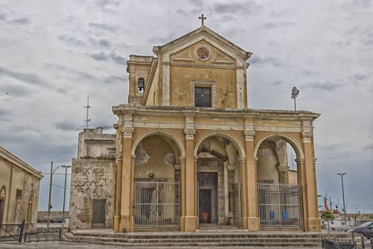 The Madonna del Canneto sanctuary in the old town of Gallipoli (Le) in the southern of Italy