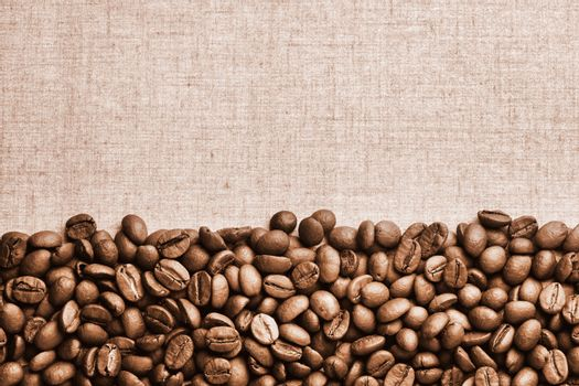 Vintage Coffe Beans Background