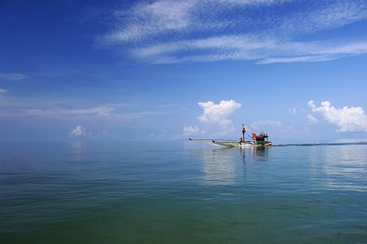 Fishing Boat at Trat in Thailand