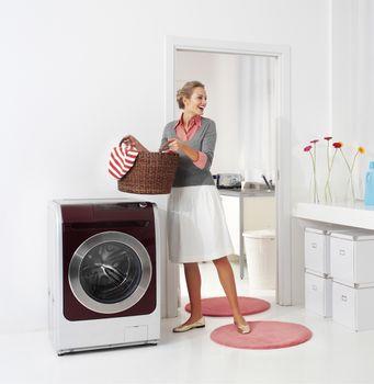 woman doing a housework