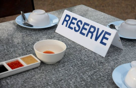 The table of restaurant in the reserve.