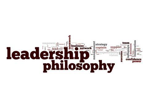 Leadership philosophy word cloud