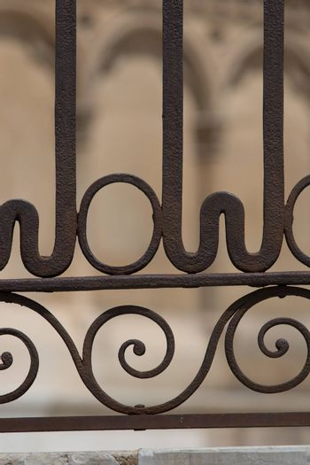 Fine shapes in the forged barrier of the gothic cathedral of Leon Spain