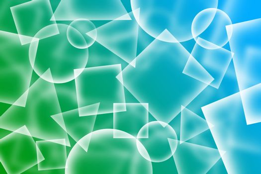 Abstract transparent shapes background