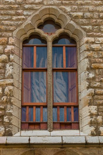 Fine piece of modernist art as window of a building in the center of the city of leon in Spain