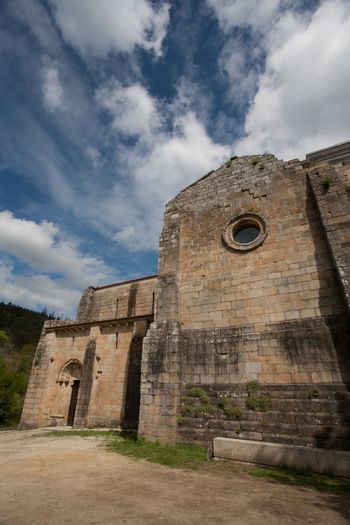 Outdoors view of the romanesque monastery of Carboeiro in the province of Pontevedra Spain