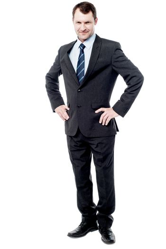 Full length portrait of businessman
