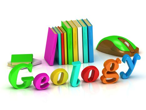 geology 3d inscription bright volume letter