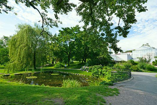 Lake in botanical garden