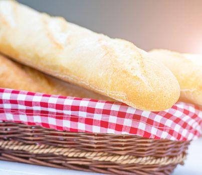 Baguette in a basket