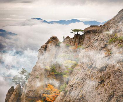 Beautiful view of rocks