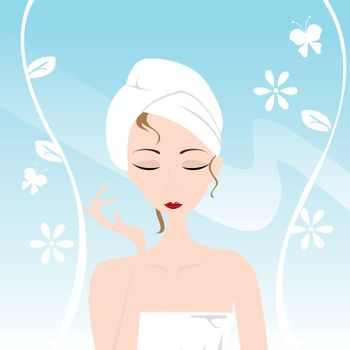 girl having a spa and beauty skin