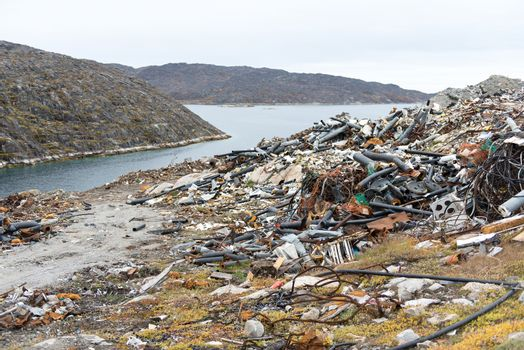 Waste disposal site in Greenland
