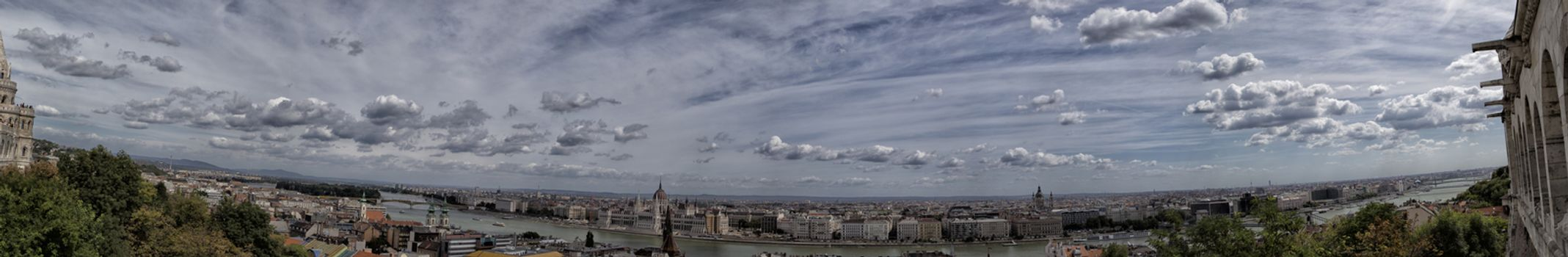 A  view of the Danube river in Budapest in Hungary