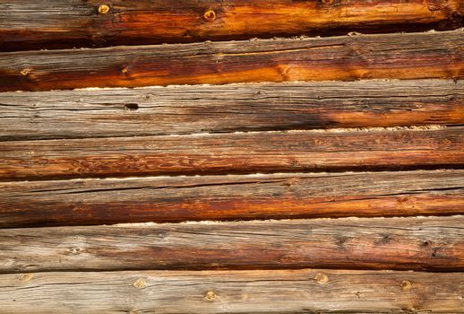Weathered logs background