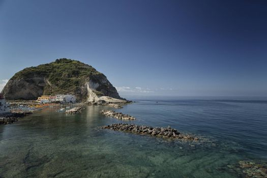 A view of Sant���Angelo in Ischia island in Italy