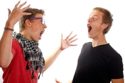 Teen boy conflict