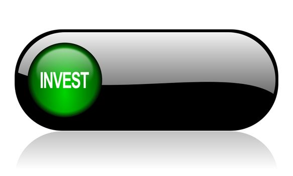 invest black glossy banner