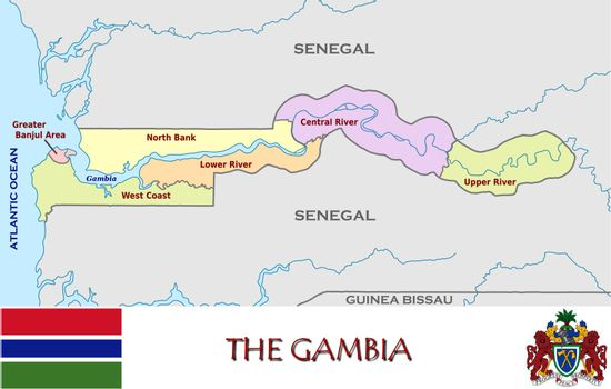 The Gambia divisions