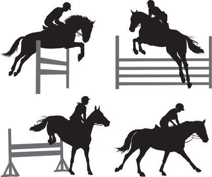 Equestrian sports set