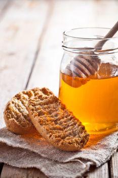 crackers and honey