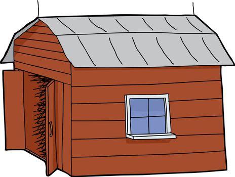 Barn with Open Door