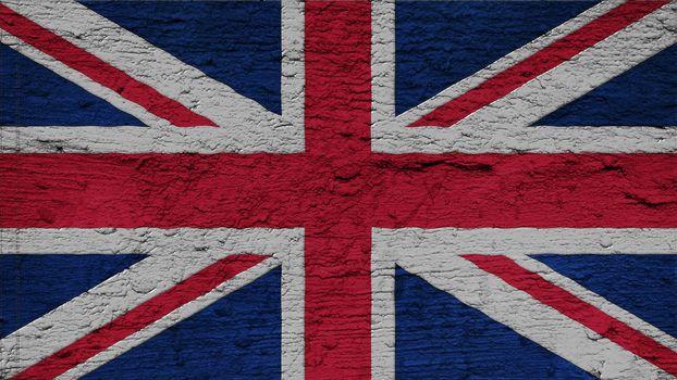 United Kingdom Flag on the wall texture