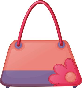Illustration of a pink fashion bag on a white background