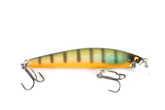 Fishing lure of colorful on white background.