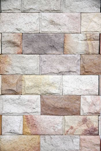 Stone brick wall pattern for background.