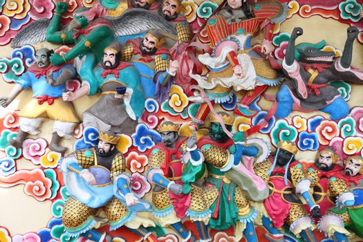 Statues of deities in Chinese temples,Thailand.