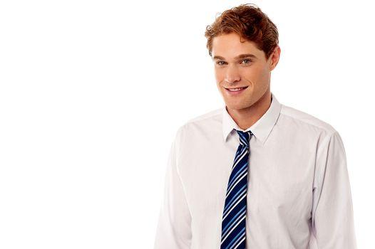 Happy corporate male executive