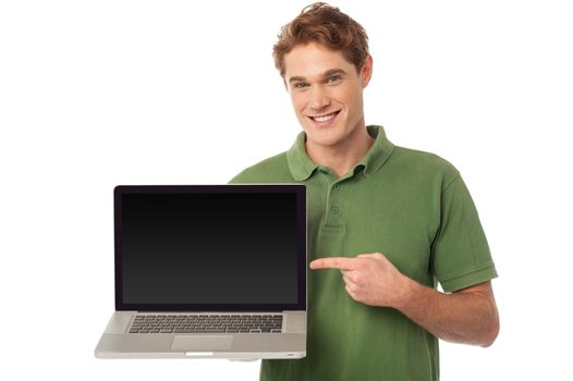 The brand new laptop is out for sale