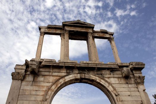 Arch of Hadrian in Athens, Greece