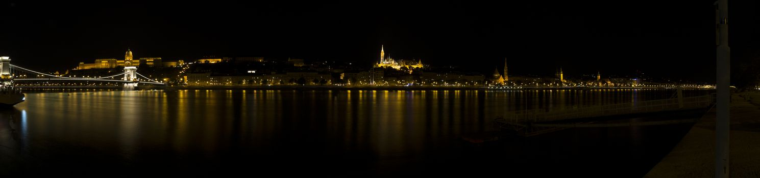 Danube Night View in Budapest