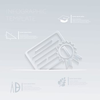 vector illustration, diploma for the first place. template graphic or website layout