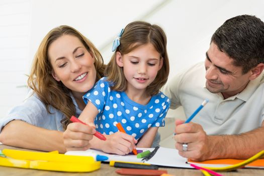 Family coloring together