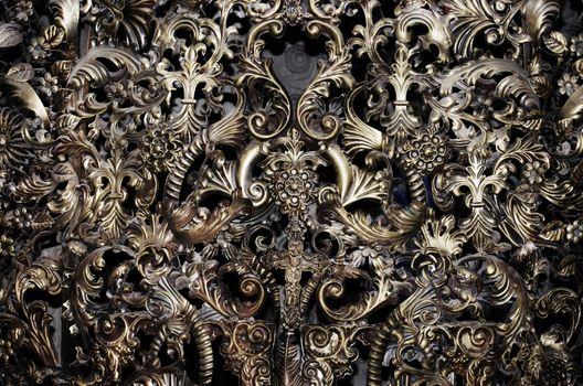 Photo of Vintage Metal Ornament Decorative Background
